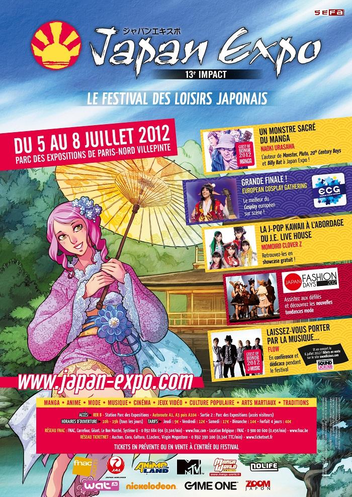Japan Expo 2012 : infos et planning détaillé !