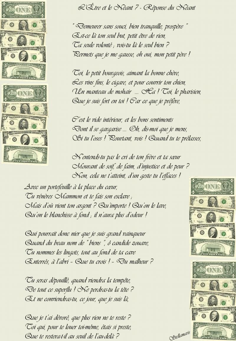 L'Être et le Néant 7 - Réponse du Néant / /